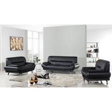 leather livingroom sets modern black living room sets allmodern