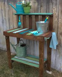 How To Make A Table Out Of Pallets Make A Garden Potting Bench Hgtv