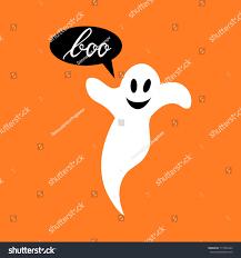 boo modern inscription ghost background halloween stock vector