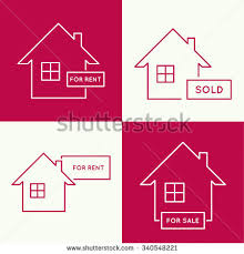 set icons houses renting leasing selling stock vector 340548221