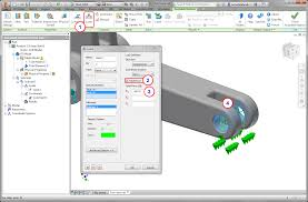 nastran in cad 2017 for inventor help section 5 cast lever exercise
