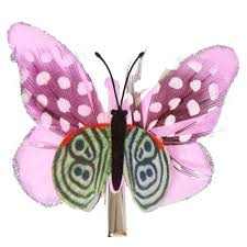 butterfly hair lilac spotted butterfly hair clip s us