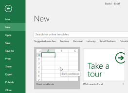 How To Create Spreadsheets In Excel Excel 2016 Creating And Opening Workbooks Page
