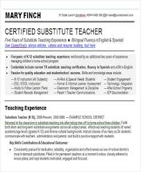 Bilingual Teacher Resume Samples by 25 Teacher Resumes In Word Free U0026 Premium Templates