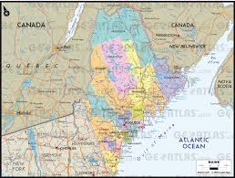 Map Of Canada And United States by Geoatlas United States Canada Maine Map City Illustrator