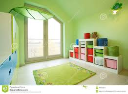 children room with green walls stock photo image 49789354