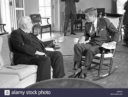 united states president john f kennedy in rocking chair right