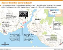Istanbul On World Map by Istanbul Terror Attacks Death Toll Rises To 44 Gulfnews Com