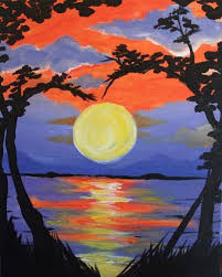 themed paintings 30 best sunset themed paintings images on canvas