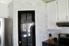 White Marble Kitchen by That Hampton Carrara Marble Backsplash Done Zo Chris Loves Julia