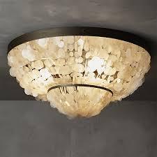 capiz flush mount light capiz flush mount l inspired lighting chandeliers and lights