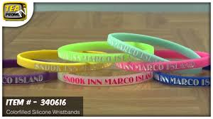 silicone wrist bracelet images Promotional 1 4 inch mini colorfilled silicone wristbands jpg