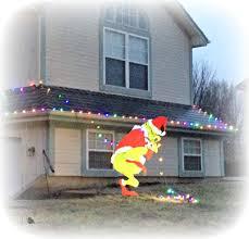 grinch lights outdoor sacharoff decoration