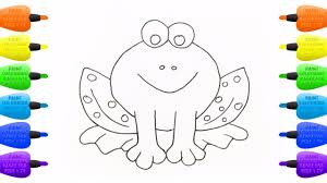 coloring for childrens tropical frog how to draw animals paint