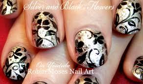 Nail Art Design Black Diy Flower Nails Black Flower Nail Art Design Tutorial Youtube