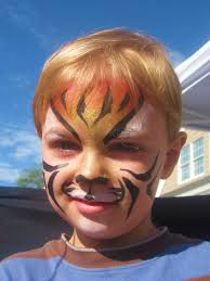 wordless wednesday landon u0027s first face painting tiger face