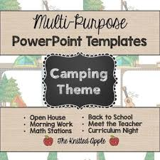 camping theme powerpoint templates by the knitted apple tpt