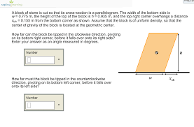 Rightcorner A Block Of Stone Is Cut So That Its Cross Section Chegg Com