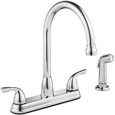 two handle kitchen faucet shop project source chrome 2 handle deck mount high arc kitchen