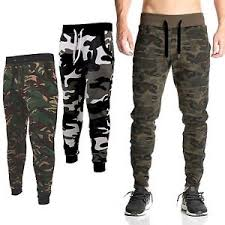 army pattern fleece mens skinny jogging bottoms slim fit army camo joggers camouflage