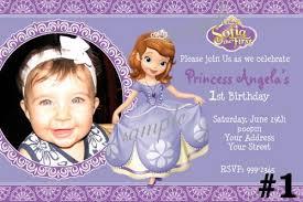 sofia the birthday 1st princess sofia birthday invitations bagvania free printable