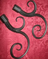 Curtain Rods Sale Black Curtain Rod And Swirl Finial Set 28