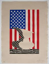 Jasper Johns Three Flags Paddle8 Untitled Flag And Vase Jasper Johns