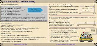 present perfect simple past my english blog
