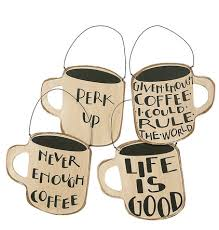 white black coffee cup ornament set from zulily