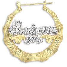 Hoop Earrings With Name Nameplate Earrings Name Earrings Nameplatedepot Com