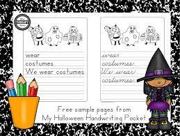 halloween freebie halloween handwriting practice freebie your therapy source