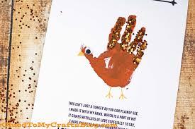 handprint turkey poem free printable glued to my crafts