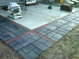 Concrete Paver Patio Designs Ideas Pavers Concrete Patio And Installing Concrete Best