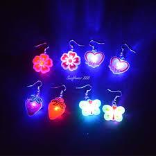 2018 led bling glowing light up earrings ear