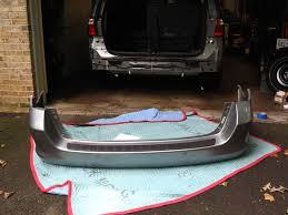 honda odyssey rear bumper rear bumper repaint