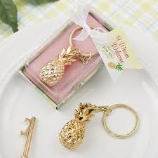 keychain favors gold pineapple key chain favors