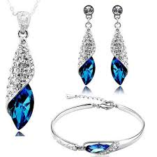 crystal jewellery necklace images Valentine gifts by youbella fashion jewellery combo of crystal jpg