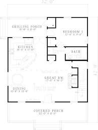grilling porch elderberry cozy cabin home plan 055d 0069 house plans and more