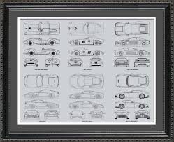 ferrari wall art ferrari automobile blueprint art wall hanging auto car gift