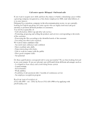 Best Call Center Resume by Call Center Cover Letter Example Baileybread Us