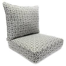 Outdoor Furniture Cushions Shop Jordan Manufacturing Poet Gray Geometric Deep Seat Patio