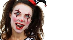 scary clown makeup tutorial halloween face paint youtube