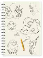 notebook doodle sketch henna tree stock photos freeimages com