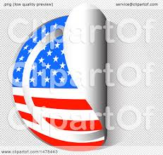 Free American Flag Stickers Clipart Of An American Flag Sticker Styled Icon Royalty Free