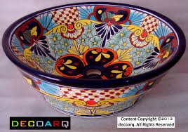 mexican sinks bathroom bathroom sinks decoration bathroom good picture of brown and white mexican pattern talavera gorgeous accessories for bathroom decoration using talavera vessel bathroom sinks