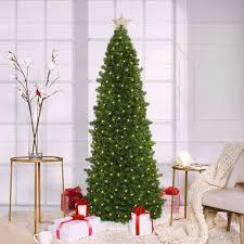 7 5ft pre lit artificial tree slim led easy set up target