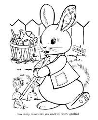 peter cottontail carrot gardening coloring pages bulk color