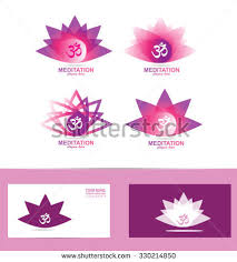 Lotus Flower With Om Symbol - lotus flower logo stock vector 350857832 shutterstock