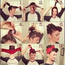 1940s bandana hairstyles vintage 1940s hairstyles google search cute pinterest retro