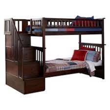 woodland twin over twin staircase bunk bed ab566 products